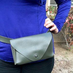 Handbags - Vegan olive belt Fanny pack